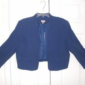 Worthington Blue Shrug/Bolero Jacket, Large